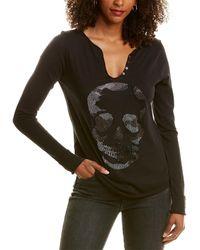 Zadig & Voltaire Tunisien Ml Skull Strass T-shirt - Black