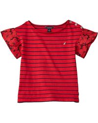 Nautica Eyelet Top - Red