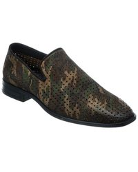 Karl Lagerfeld Perforated Suede Loafer - Green