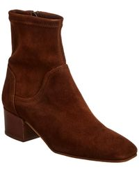 Aquatalia Lyla Stretch-suede Ankle Boots - Brown