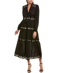 Tularosa Carter Midi Dress - Black