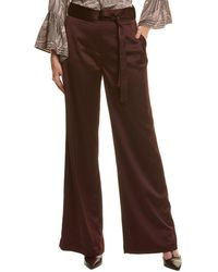 Halston Wide Leg Pant - Purple