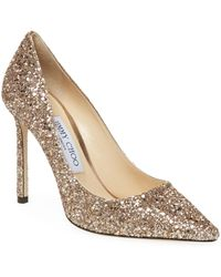 Jimmy Choo - Romy Glitter Stiletto Pump - Lyst