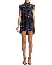 Balenciaga - Silk Babydoll Dress - Lyst