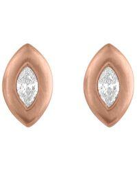 Tate - 18k 0.10 Ct. Tw. Diamond Earrings - Lyst