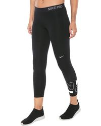 Nike Pro Colorblocked Cropped Leggings - Black