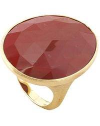 Marco Bicego Lunaria 18k Red Jasper Cocktail Ring