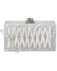 Edie Parker Jean Corset Acrylic Clutch - White