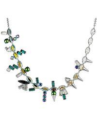 Swarovski Crystal Plated Necklace - Metallic