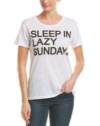 Chaser Sleep In Lazy Sunday Slogan Tee - White
