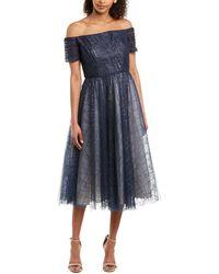 Carmen Marc Valvo Infusion A-line Dress - Blue