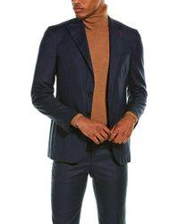 Isaia 2pc Wool Suit - Multicolour