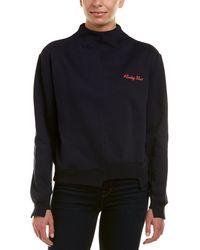 EVIDNT Asymmetrical Sweatshirt - Blue