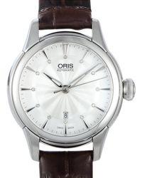 Oris - Leather Watch - Lyst