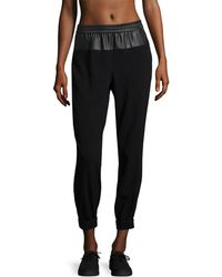 BCBGMAXAZRIA Rasissa Faux Sweatpants - Black