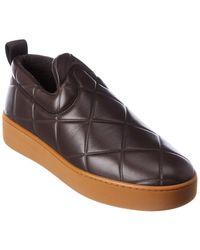 Bottega Veneta The Quilt Leather Sneaker - Black