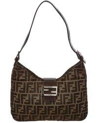 963b97e0cce Fendi - Brown Zucca Canvas Shoulder Bag - Lyst