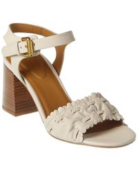 See By Chloé Gathered Detail Leather Sandal - White