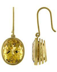 Tate - 18k 8.83 Ct. Tw. Yellow Beryl Earrings - Lyst