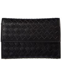 Bottega Veneta Intrecciato Nappa Leather Continental Wallet - Black