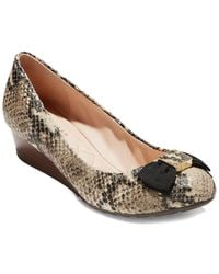 Cole Haan Tali Bow Leather Wedge - Multicolor