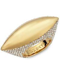 CC SKYE - Ufo Crystal-studded Ring - Lyst