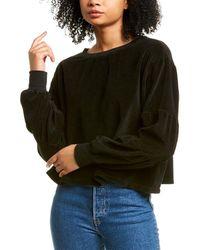 Project Social T Neptune Velour Sweatshirt - Black