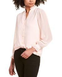 Catherine Malandrino Ruffle Blouse - Pink