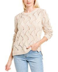 INHABIT Pointelle Sweater - Brown