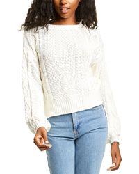 Line & Dot James Tie Back Sweater - White