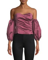 Tracy Reese - Off Shoulder Puff Sleeve Top - Lyst