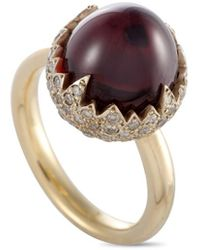 Pomellato 18k 0.59 Ct. Tw. Diamond & Garnet Ring - Metallic