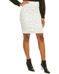 Karl Lagerfeld Tweed Pencil Skirt - White