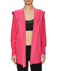 Nanette Lepore | Embellished Trim Hooded Sweatshirt | Lyst