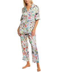 Karen Mabon 2pc Pyjama Shirt & Pant Set - Grey