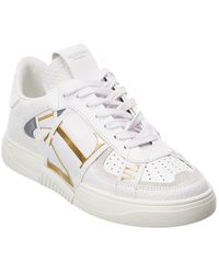 Valentino Garavani Vltn Leather Trainer - White