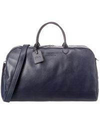 Longchamp Le Foulonne Large Leather Duffel Bag - Blue