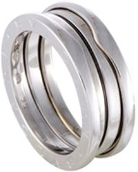 BVLGARI - B.zero1 18k White Gold 2-band Ring - Lyst