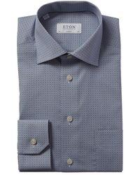 Eton of Sweden Classic Fit Dress Shirt - Blue