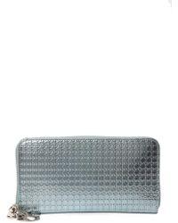 Dior Metallic Zip-around Wallet - Multicolour