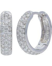 Nephora - 14k 0.35 Ct. Tw. Diamond Huggie Earrings - Lyst
