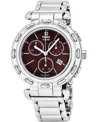 Fendi Women's Selleria Chronograph Watch - Metallic