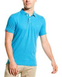 Superdry Vintage Destroyed Polo Shirt - Blue