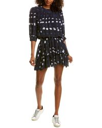 Zadig & Voltaire Polka Dots Silk Mini Dress - Blue