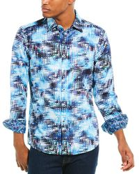 Robert Graham Sturlo Classic Fit Woven Shirt - Blue