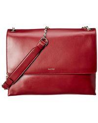 Lanvin Sugar Leather Shoulder Bag - Red