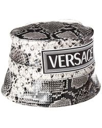 Versace Snake-embossed Leather Bucket Hat - Multicolour