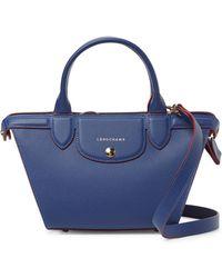 Longchamp - Le Pliage Heritage Leather Crossbody Bag - Lyst