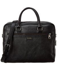 Dolce & Gabbana Holdall Leather Bag - Black