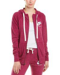 Nike Sportswear Gym Vintage Hoodie - Red